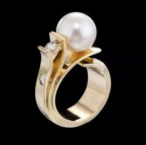 🎀18k White Pearl Ring
